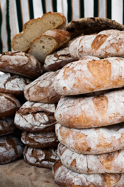 """Pa de Pagès - rustic catalan bread. Literally the """"bread of the peasants,"""" this round rustic bread with its crusty edge and light, crunchy middle comes ready to serve."""