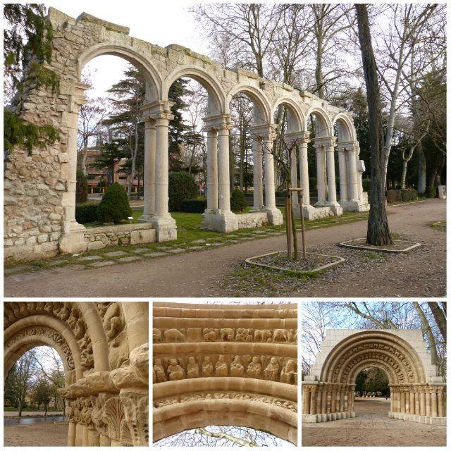 Paseo de Isla en Burgos, allí encontrarás restos de un patio porticado y una portada románica ¡Muy recomendable!