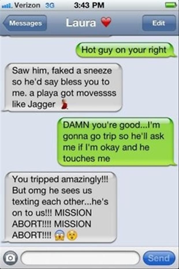 Hot guy...too funny