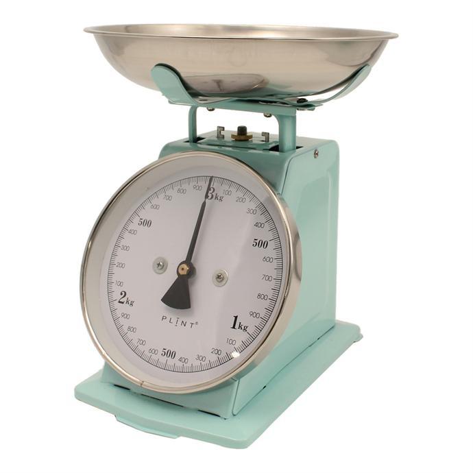 Vintage Kitchen Scales: Retro Mint Green Kitchen Scale