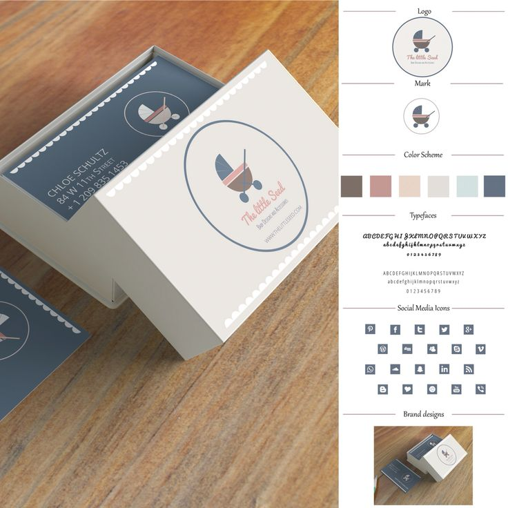 #logo Design + #styleguide and #stationery Pack customisable for your business. Available in my #Etsy shop https://www.etsy.com/au/shop/BlossomBranding #baby #designerbaby #designerbabywear