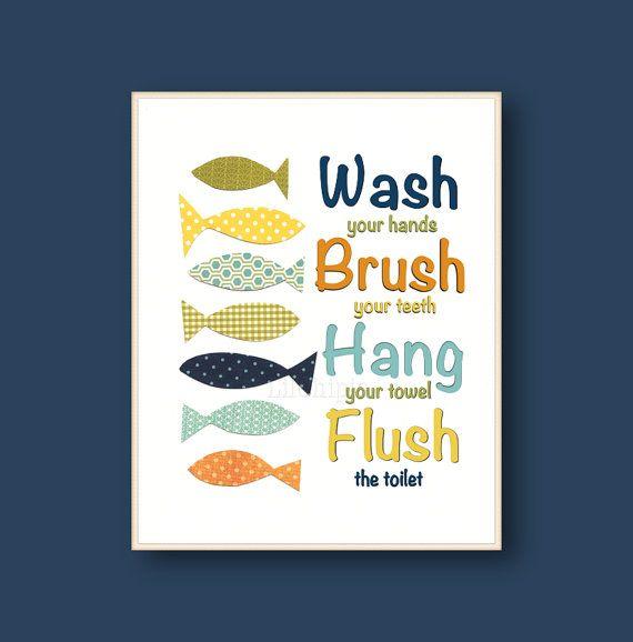 Wash Brush Hang Flush Blue Navy Green Yellow Orange