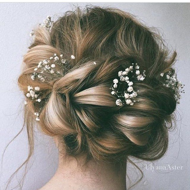 Pretty  the #alternativeflowercrown #braid #bridalhair #weddinghair…