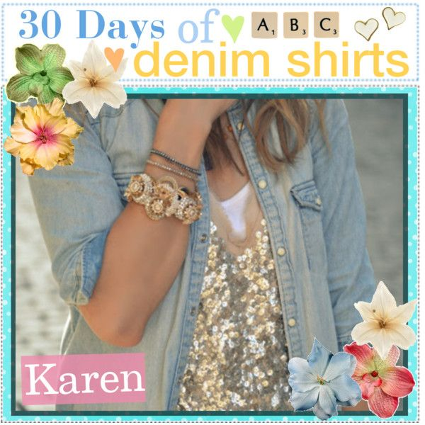 30 days of Denim Shirts by every-girl-has-a-tip, via Polyvore