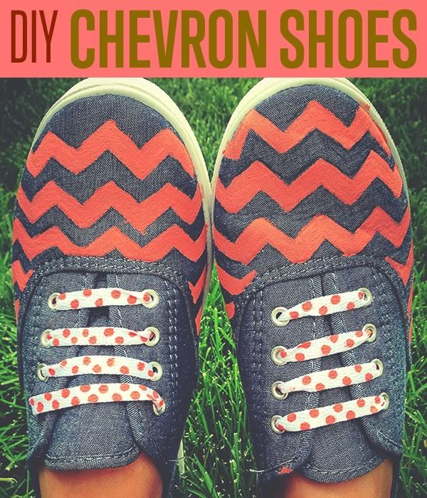 How To Make Chambray Chevron Shoes | Here's a cool DIY project for your old shoes. #DiyReady www.diyready.com