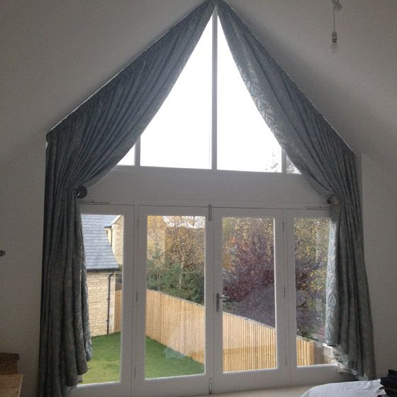 curtains triangular window - Google Search