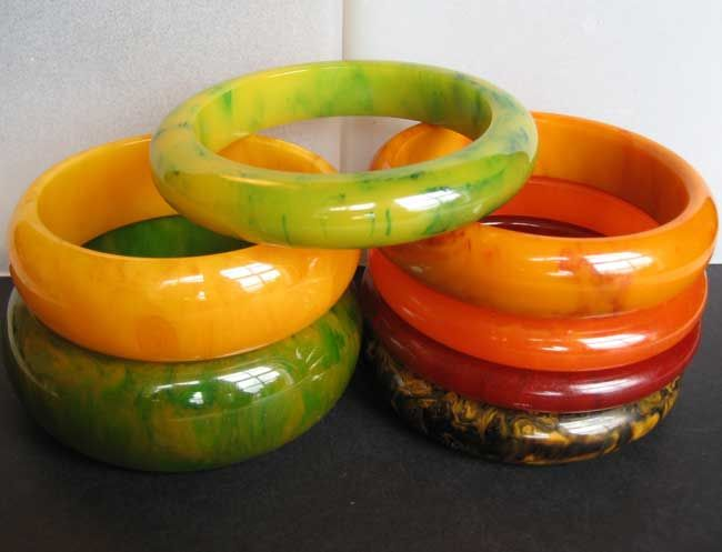 Bakelite Bangles from Grays Antiques.