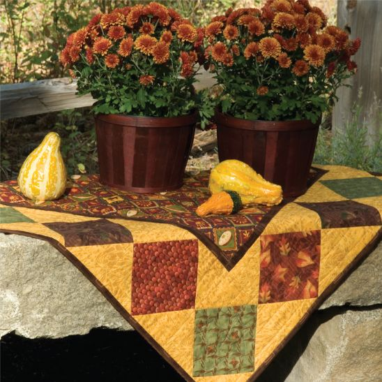 More holiday inspiration - here's my Thanksgiving Table Quilt from my Homecomings book.