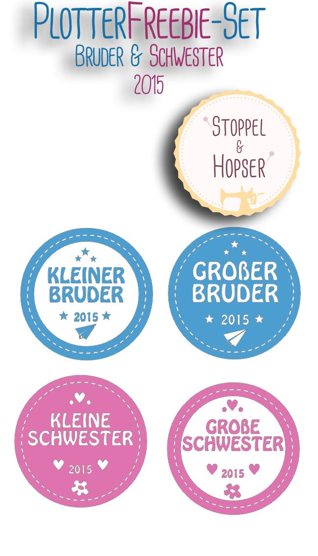 Freebie-Set Bruder & Schwester 2015 - stoppelundhopsers Webseite!