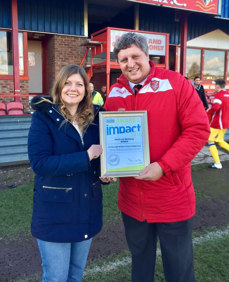 Yorkshire Coast Homes sponsors Memorial Scarborough Athletic Match.  #YCH #YCHnews #YorkshireCoastHomes