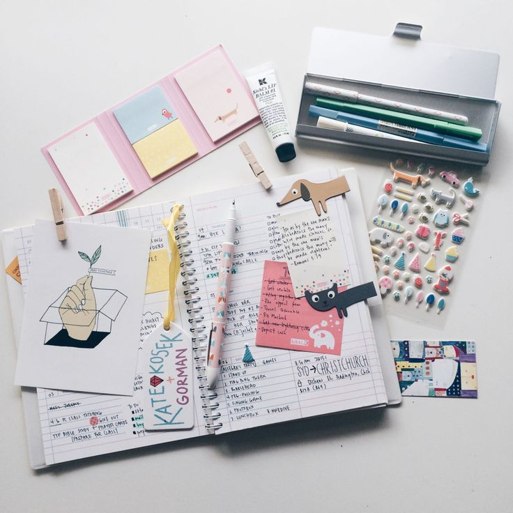 The bare necessities when planning out my week - Kikki.K and Muji stationery !