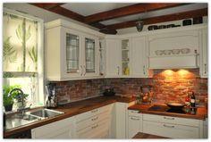 Oppussing av kjøkken, med gammel teglstein. (Interiørtips og inspirasjon til hjemmet.)