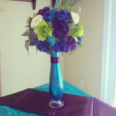 Peacock Peacockweddings Flowers Centerpiece Party