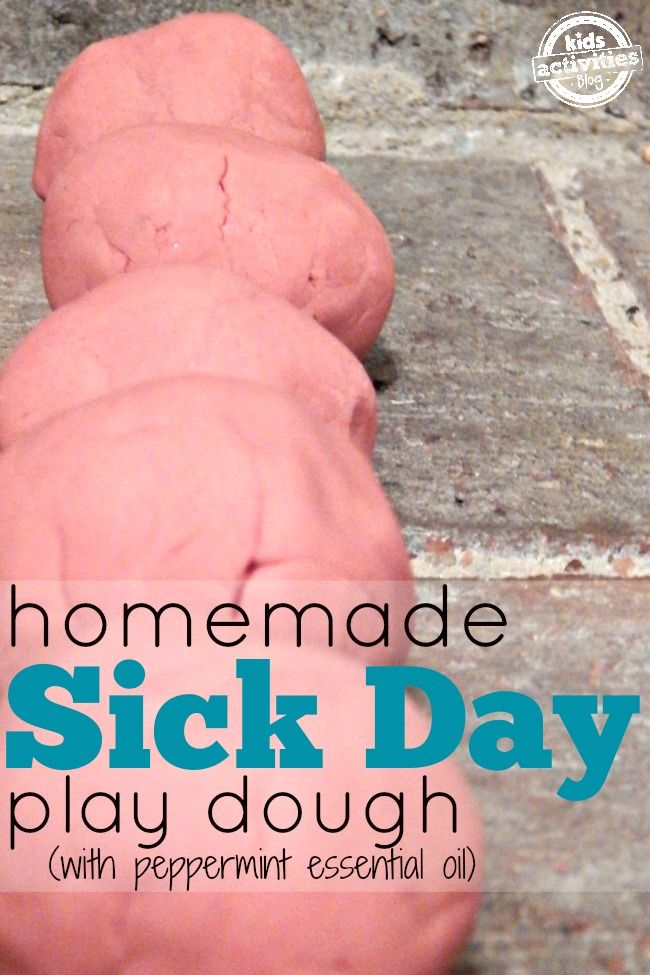 Homemade Sick Day Play Dough - this is such an amazing idea for when your little one isn't feeling well.