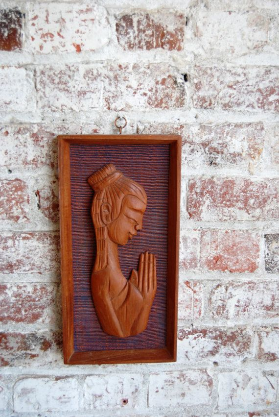 Mid Century Wall Art Teak Dannish Girl in by millesimedesigns, $24.00