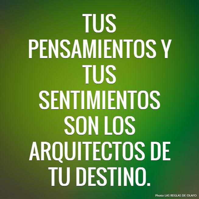 Tus pensamientos.... | Frases!! | Pinterest | Spanish ...