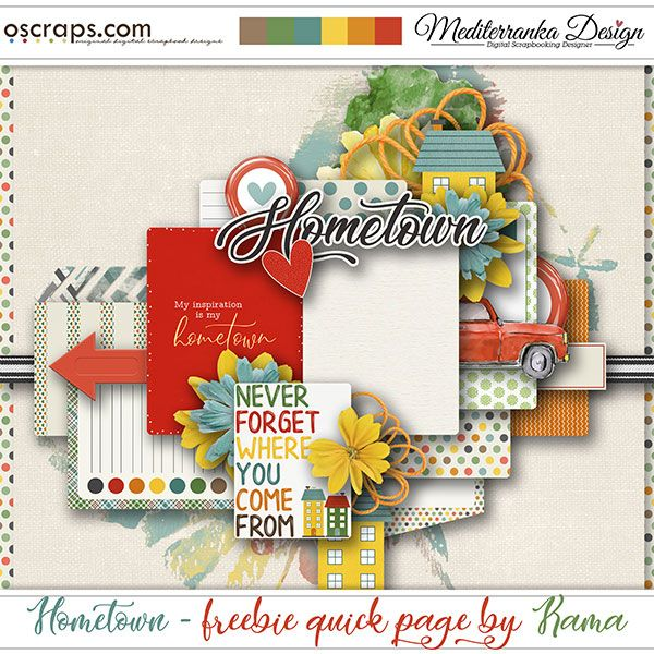 Hometown Chance To Win Free Qp From Kama Hometown Scrapbook Free