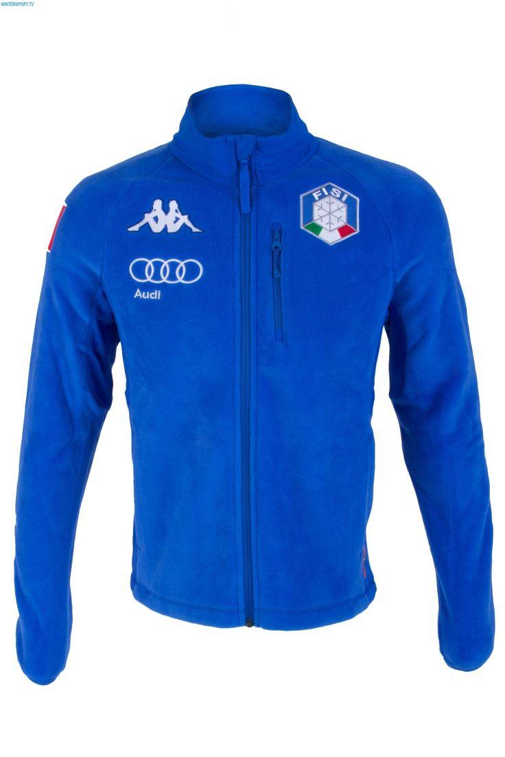Kappa Men Italian Alpine Team FISI Fleece Jacket - Blue Princess White