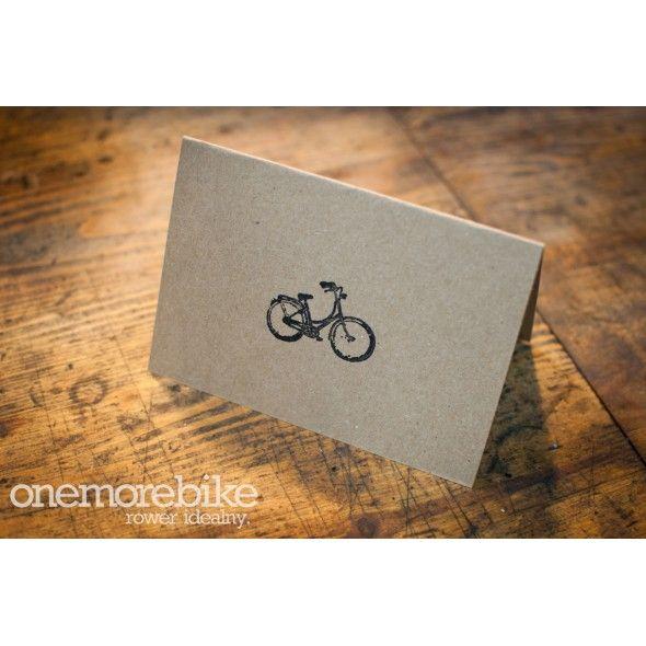 BIKE SHOP GIFT CARD / Okładka naszego talonu prezentowego z rowerową pieczątką