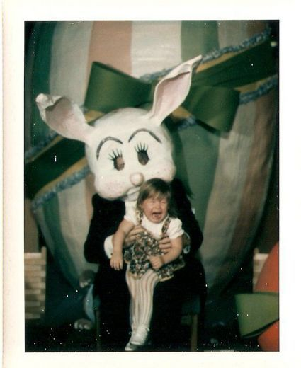 Bad Easter Photos, that's one scary looking bunny even I would be screaming to get away...LOL...