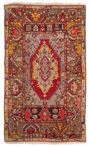 Alif Art  |   Anatolian Kirsehir Carpet  172.00 x 103.00 cm.  67.72 x 40.55 in.  Made in 1940s