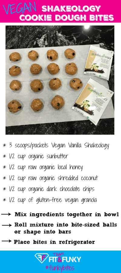 Vegan Shakeology Cookie Dough Bites   shakeology   beachbody   beachbody coach   health and fitness   healthy living   smoothie   shakes   meal replacement   healthy snack   vegan shakeology   shakeology recipes   weight loss  