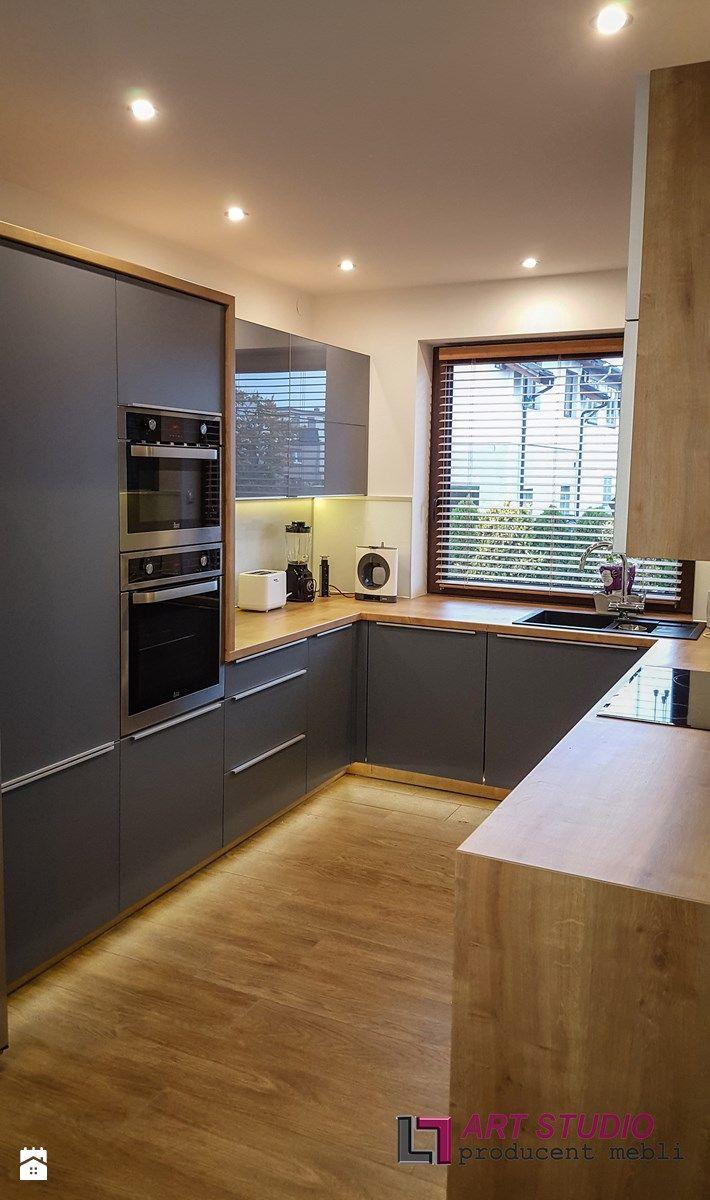 Kuchnia w szarościach - Kuchnia, styl nowoczesny - zdjęcie od Art.studio
