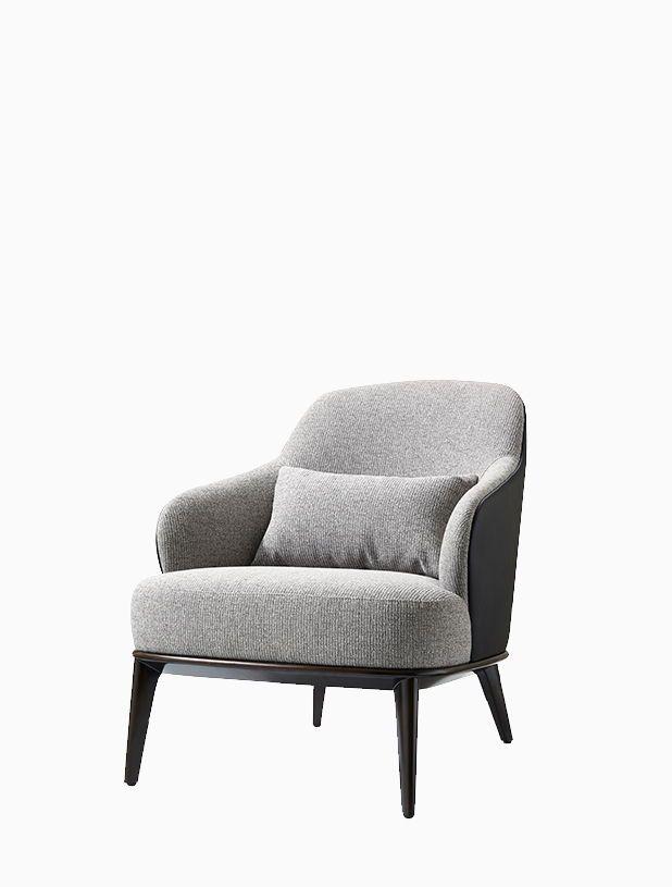 Phenomenal Modern Style Sofa Chair Grey Series W700 D845 H815 Solid Ibusinesslaw Wood Chair Design Ideas Ibusinesslaworg