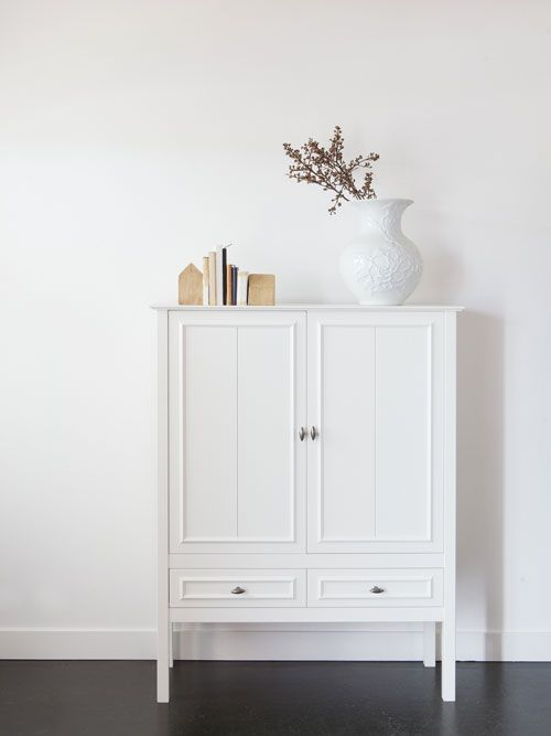Pure White w/ pops of color (maybe bright spines of books) Great Display idea!