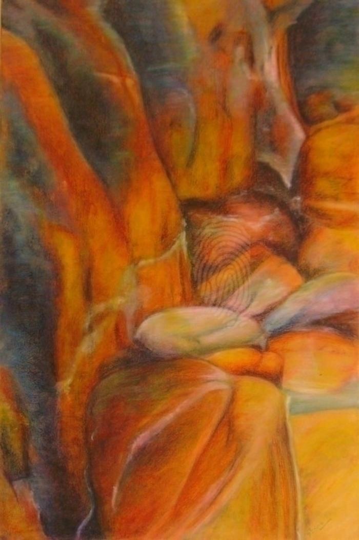 Large coastal fissure anthea piszczuk bluethumb art
