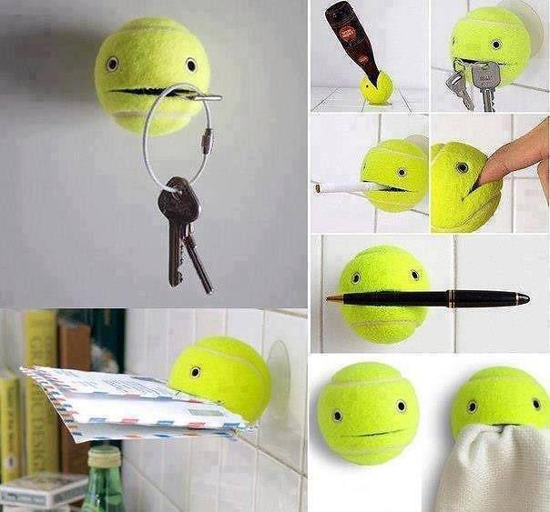 #Riciclo #creativo di una pallina da #tennis ^_^