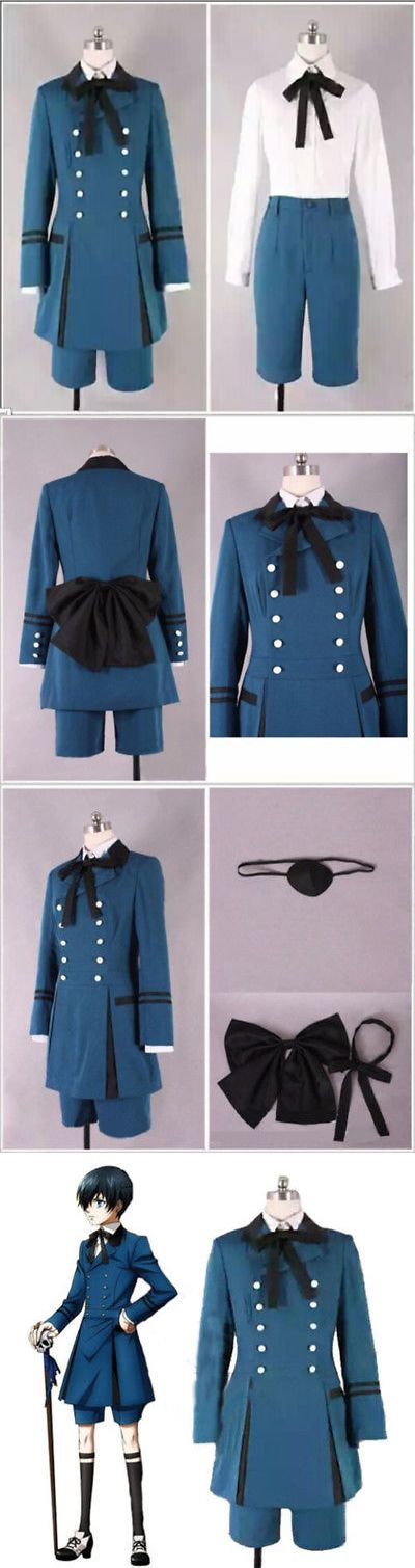 Unisex 86207: Hot! Black Butler Kuroshitsuji Ciel Phantomhive Cosplay Party Costume For Party -> BUY IT NOW ONLY: $41.99 on eBay!