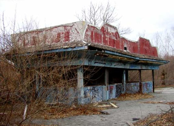 Abandoned American Theme Parks Open for Exploration.   Including: Prehistoric Forest Irish Hills Michigan, Six Flags New Orleans, Rocky Point Amusement Park Warwick Rhode Island, Lincoln Park Dartmouth Massachusetts, Lake Dolores Newberry Springs CA, Glen Echo Amusement Park Glen Echo Maryland and  Chippewa Lake Park Medina County Ohio.