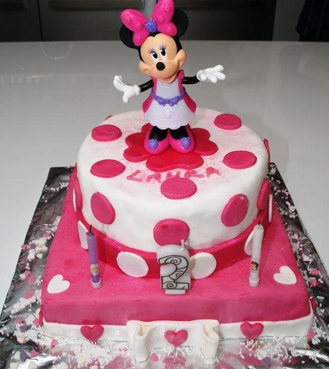 Gateau D'anniversaire Pour Fille Minnie Fresh Gateaux Anniversaire Fille 2 Ans (Dengan gambar)