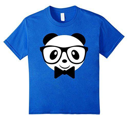 Kids Cute Panda Shirt for Boys, Panda Shirt, Glasses Shir...