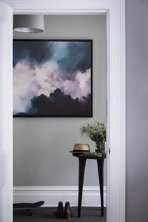 Charcoal Grey Walls - Entryway Ideas from Shaynna Blaze and Urban Road