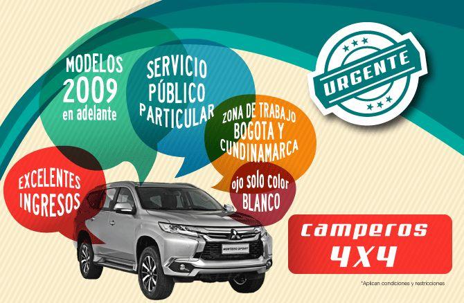 CONTRATOS PARA SU CAMIONETA DOBLE CABINA O CAMPEROS 4X4 (Bogota)