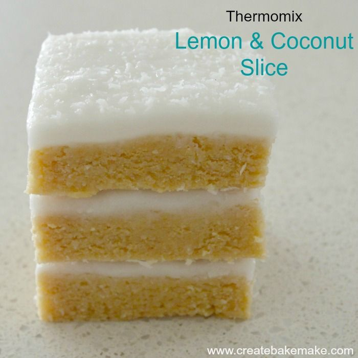 Lemon and Coconut Slice Thermo CBM