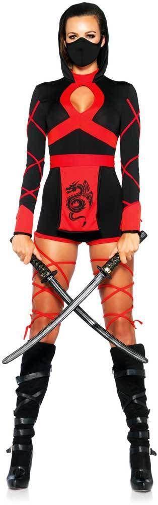 Silent Assassin Romper Outfit Sexy Widow Maker Dragon Ninja Costume Adult Women #LegAvenue