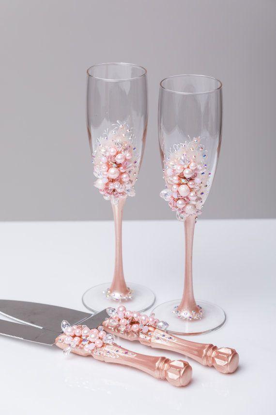 Wedding Cake Server Set blush pink Wedding Cake Knife Cake