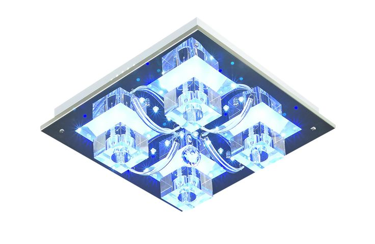 Plafon ATLANTA 4x20W Lampex srebrny 176/4 pilot LED RGB