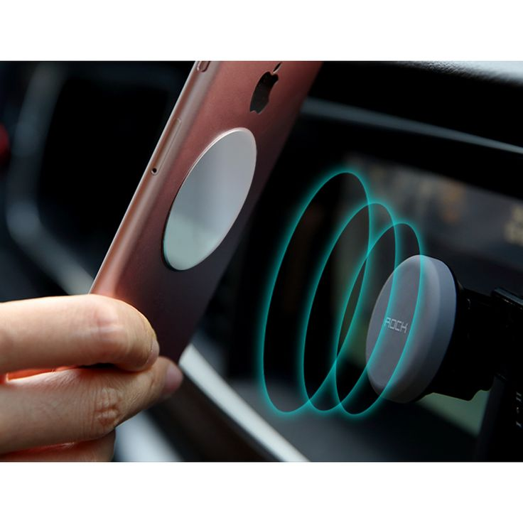 Original Rock Pop Socket Air Vent Magnetic For Car Mount with two Metal Plates Free in car phone holder For your mobile phone