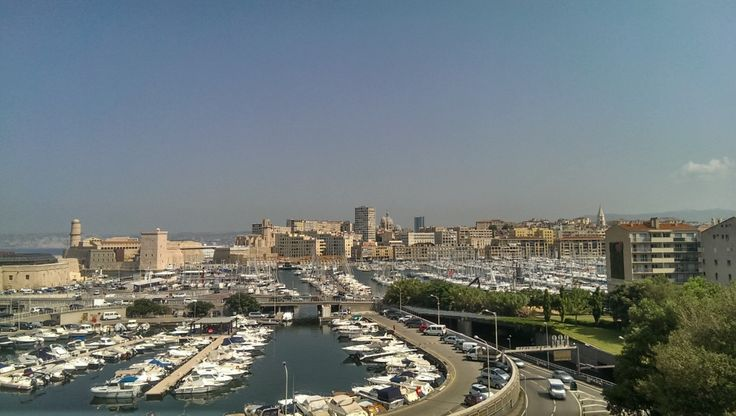 a view of Marseille harbor