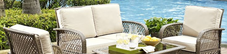 Creating an outdoor living room that feels fresh is a top trend in outdoor furniture industry. Wicker is durable enough to stand up to years of use and offers a lot more in terms of style than easily-cracked plastic. Whether you're setting up shop on a patio, deck, or beside an ultra-luxe pool, the styles will feel easy and elegant.