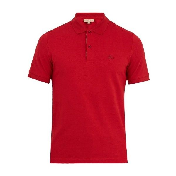 Burberry Oxford cotton-piqué polo shirt (2.094.825 IDR) ❤ liked on Polyvore featuring men's fashion, men's clothing, men's shirts, men's polos, red, mens short sleeve oxford shirt, mens pique polo shirts, mens checkered shirts, mens red shirt and mens short sleeve polo shirts