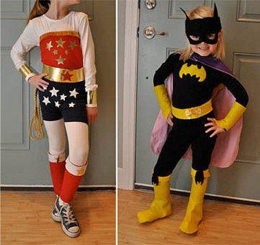 Wonder Woman and Batgirl costumes