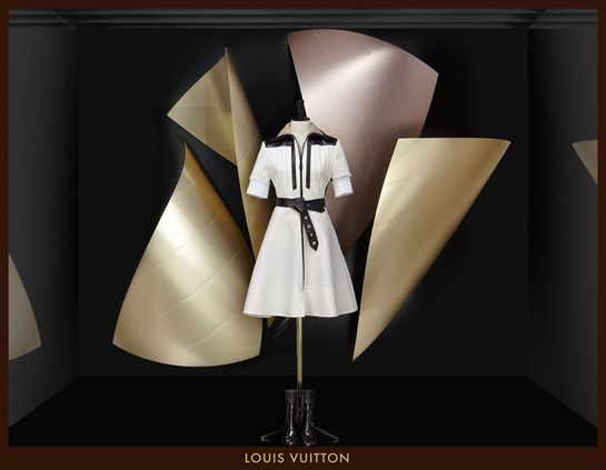Frank Gehry's windows displays for the Louis Vuitton Fall/Winter 2014-2015 collection