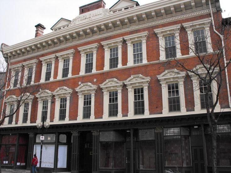 Hamilton Treble Hall, John Street back of Pagoda Restaurant which is on King st. corner.
