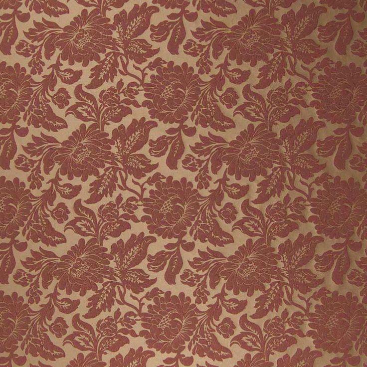 Warwick Fabrics : NIVARA, Colour MERLOT