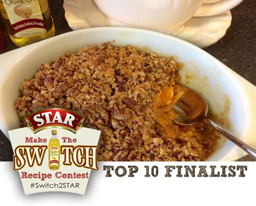 Sweet Potato Casserole with Bananas and Honey made with STAR Butter Flavored Olive Oil #Switch2STAR